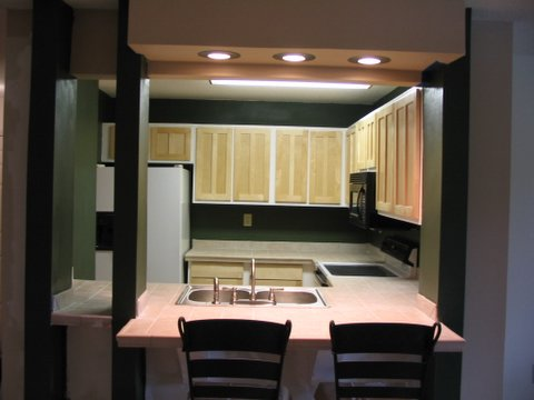 This is how it looks today with refaced maple cabinets