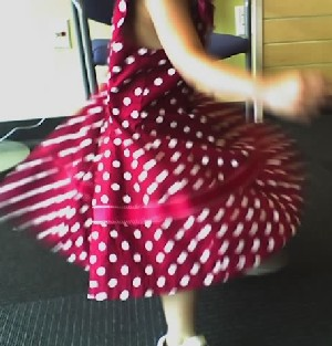 Caden twirling