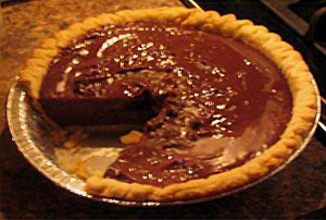 Picture of chocolate cream pie.